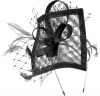 Max and Ellie Angular Sinamay Aliceband Fascinator in Black