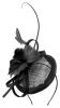 Molly and Rose Occasion Pillbox Fascinator in Black