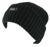 Thinsulate Beanie Chunky Ski Hat in Black