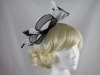 Large Loop Fascinator in Black and White