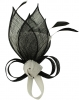 Max and Ellie Lily Comb Fascinator in Black and White