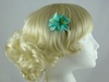 Micro Flower Clip in Turquoise