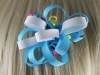 Ribbon Loops Hair Accessory in Blue & White