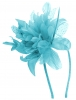 Aurora Collection Flower Aliceband Fascinator in Blue