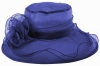 Collapsible Wedding Hat in Blue