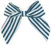 Daisy Daisy Striped Bow Hair Clip in Blue