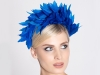 Deb Fanning Millinery Feathered Headpiece in Blue