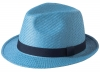 Failsworth Millinery Straw Trilby in Blue