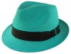 Failsworth Millinery Trilby Panama Hat in Blue