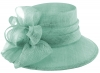 Hawkins Collection Wide Loops Wedding Hat in Blue