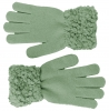 Hawkins Ladies Sequined Popcorn Yarn Gloves in Blue