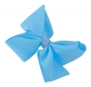 Molly and Rose Medium Diamante Hair Bow in Blue