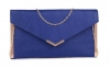 Papaya Fashion Envelope Faux Leather Bag in Blue