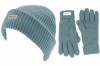 SSP Hats Thinsulate Ladies Beanie with Matching Gloves in Blue