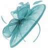Failsworth Millinery Sinamay Disc Headpiece in Bluebell