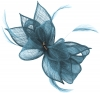 Failsworth Millinery Sinamay Diamante Clip Fascinator in Bluebell