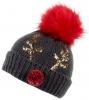 Boardman Elm Rudolph Beanie Bobble Hat