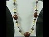 Large Bead Necklace in Brown