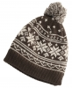 Hawkins Snowflakes Beanie Ski Hat in Brown & Beige