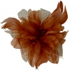 Aurora Collection Flower Comb Fascinator in Brown