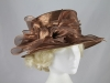 Shimmer Organza Occasion Hat in Brown