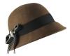 Victoria Ann Bow Winter Hat in Brown