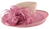 Hawkins Collection Flower Events Hat in Bubblegum & Light Pink