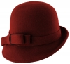 Hawkins Collection Wool Felt Vintage Cloche Hat in Burgundy