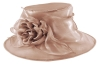 Failsworth Millinery Organza Wedding Hat in Cameo