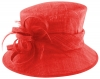 Failsworth Millinery Loops and Feathers Wedding Hat in Carmine