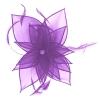 Failsworth Millinery Diamante Organza Fascinator in Violet