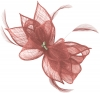 Failsworth Millinery Sinamay Diamante Clip Fascinator in Cassis