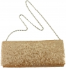 Elegance Collection Evening Bag in Chalk Sequins