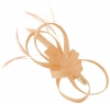 Elegance Collection Loops Clip Fascinator in Chalk