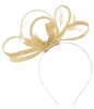 Failsworth Millinery Satin Loops Aliceband Fascinator in Champagne