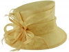 Hawkins Collection Short Down Brim Wedding Hat in Champagne