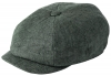 Failsworth Millinery Irish Linen Alfie Cap in Charcoal