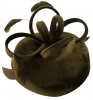 Failsworth Millinery Velvet Loops Pillbox in Charcoal