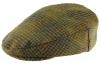Boardmans Wool Flat Cap in Checked 6 - Beige