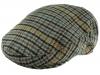 Boardmans Wool Flat Cap in Checked 7 - Grey