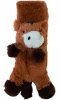 Jiglz Childrens Supersoft Animal Scarf in Chocolate