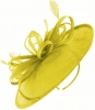 Failsworth Millinery Loops and Feathers Disc Headpiece in Citrus