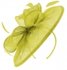 Failsworth Millinery Sinamay Disc Headpiece in Citrus