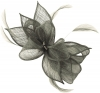 Failsworth Millinery Sinamay Diamante Clip Fascinator in Cloud