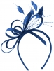Elegance Collection Satin Loops Aliceband Fascinator in Cobalt
