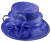 Elegance Collection Sinamay Loops Wedding Hat in Cobalt