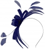 Failsworth Millinery Aliceband Sinamay Fascinator in Cobalt