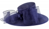 Failsworth Millinery Bow Ascot Hat in Cobalt