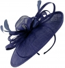 Failsworth Millinery Loops and Feathers Disc Headpiece in Cobalt