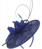 Failsworth Millinery Shaped Sinamay Disc in Cobalt